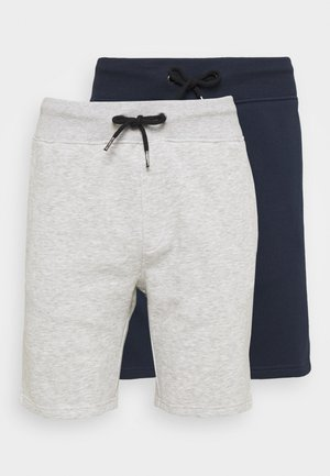2 PACK - Shorts - mottled light grey/dark blue