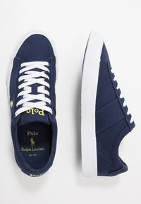 Polo Ralph Lauren - SAYER - Sneakers laag - navy/neon yellow - 1