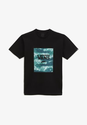 CLASSIC  - Print T-shirt - black/blue coral