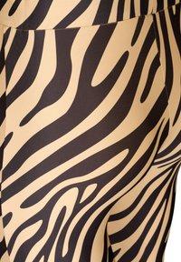 Zizzi - ZEBRA - Leggings - Trousers - beige - 5