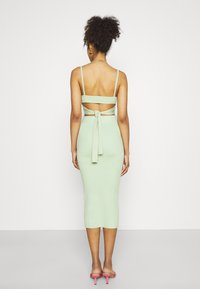 Missguided - BUTTON TIE BACK CAMI SKIRT SET - Top - green - 2