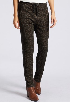 BEENA - Tracksuit bottoms - black sand