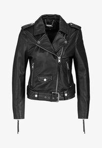 Tigha - ALL TIME FAV BIKER - Leather jacket - black - 4