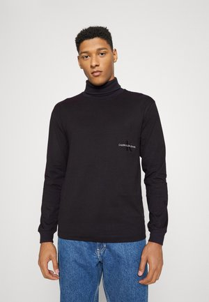 OFF PLACED ROLL NECK TEE - Long sleeved top - black