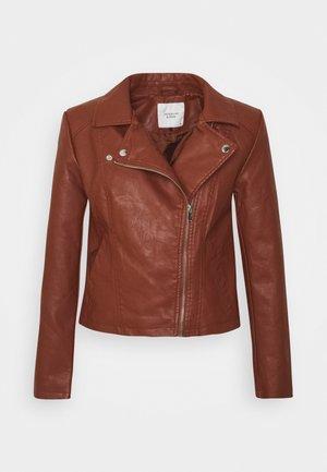 JDYSIMBA  - Faux leather jacket - cherry mahogany