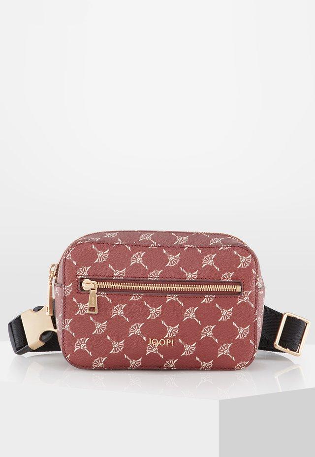 JUNA - Bum bag - burgundy/brown