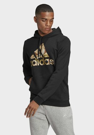 CAMOUFLAGE HD ESSENTIALS SPORTS REGULAR SWEATSHIRT HOODIE - Sweat à capuche - black