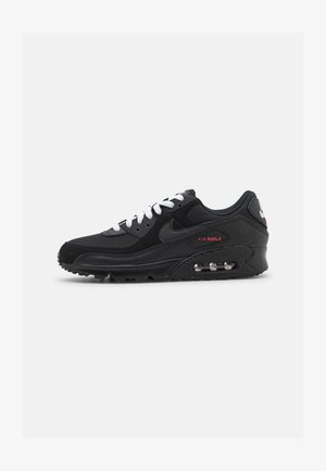 AIR MAX 90 - Sneakers - black/sport red/white/metallic silver