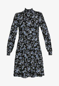 Wallis - FLORAL SHIRRED CUFF SWING DRESS - Sukienka letnia - black - 4