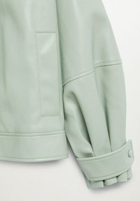 Mango - CREAM - Faux leather jacket - pastellgrün - 8