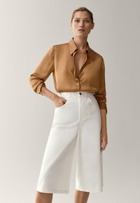 Massimo Dutti - Button-down blouse - gold - 2