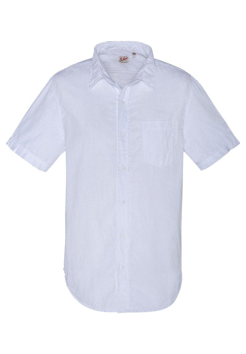 Schott - CHEMISETTE CASUAL - Shirt - blanc