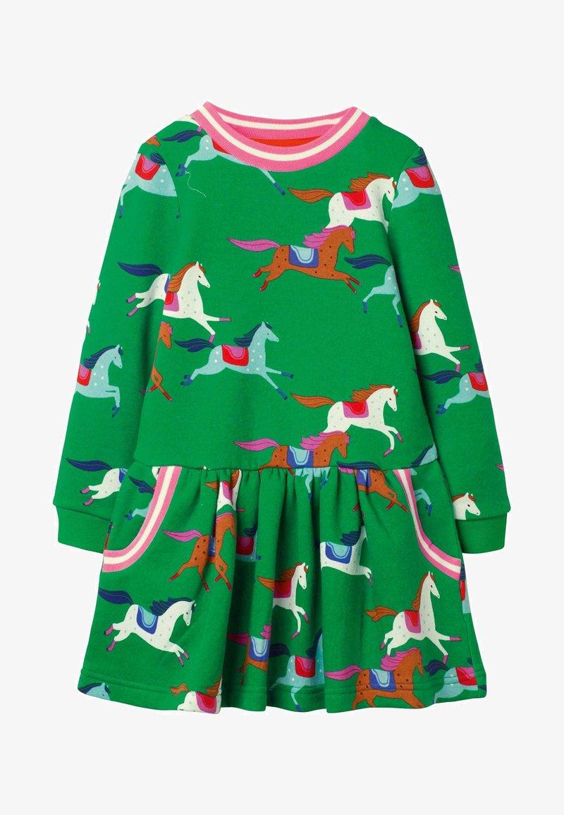 Boden - MIT MUSTER - Day dress - schottengrün, pferde