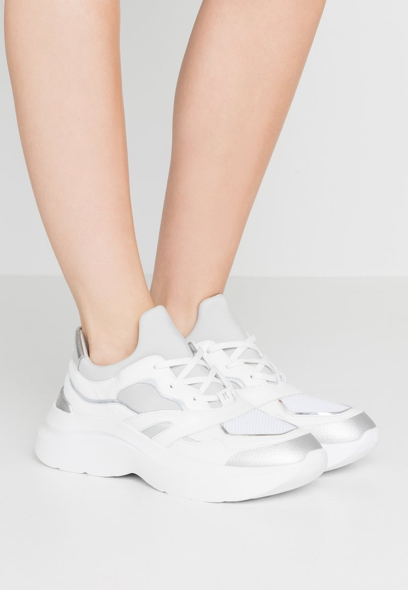 KARL LAGERFELD - SKYLINE DELTA LACE MIX - Trainers - white/silver