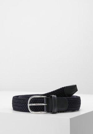 BELT - Braided belt - navy