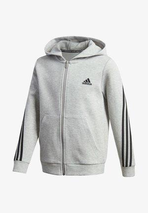 3-STREIFEN DOUBLEKNIT KAPUZENJACKE - Zip-up hoodie - grey