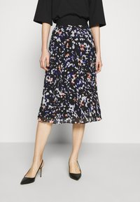 DKNY - PRINTED PLEATED SKIRT WAIST BAND - A-snit nederdel/ A-formede nederdele - black/multi - 0