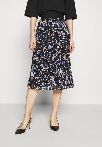PRINTED PLEATED SKIRT WAIST BAND - A-line skirt - black/multi