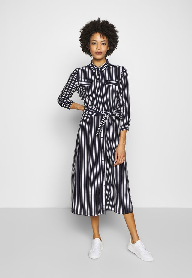DRESS LONG - Shirt dress - marine