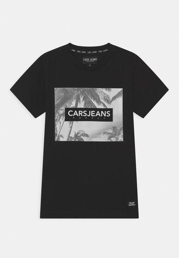 SIMMONS - Print T-shirt - black