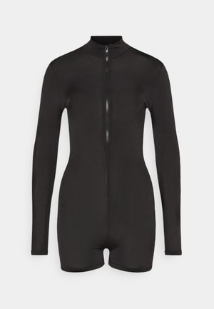 LONG SLEEVE ZIP FRONT UNITARD - Overall / Jumpsuit - black