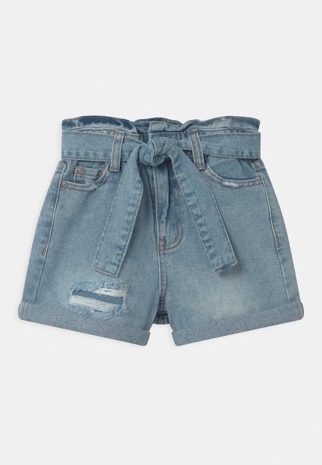 PAPER BAG  - Shorts di jeans - true indigo