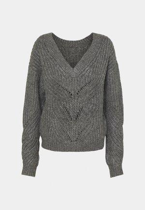 VMPIXIE V-BACK - Strikkegenser - medium grey melange