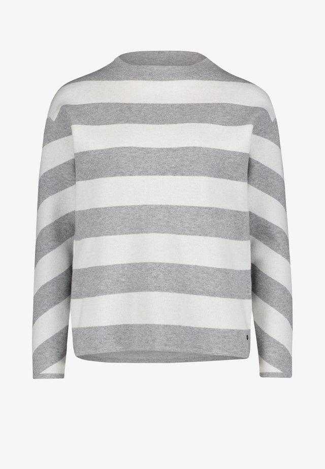 MIT STREIFEN - Pullover - grau/weiß