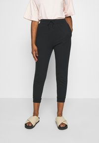 Even&Odd Petite - SLIM FIT JOGGERS - Tracksuit bottoms - black - 0
