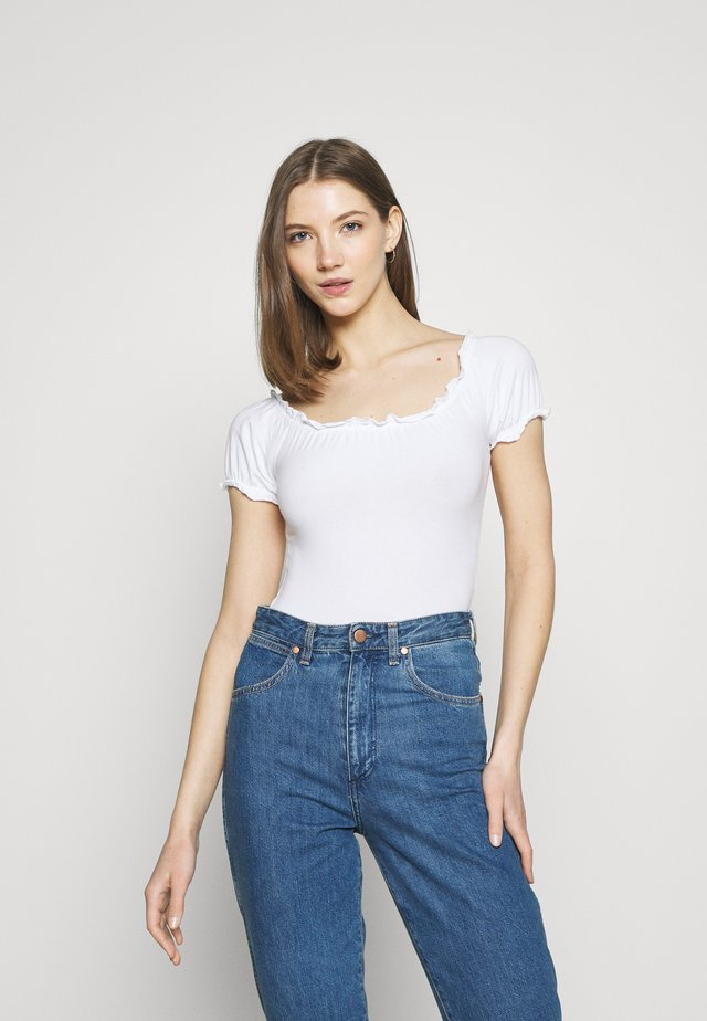 LETTUCE EDGE BARDOT - Top - white