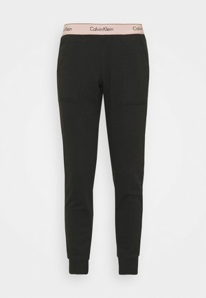 MODERN LOUNGE JOGGER - Pyjama bottoms - black/honey almond