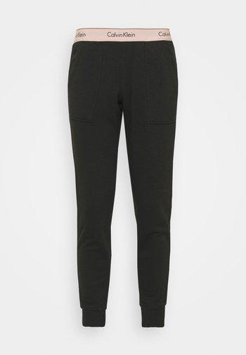 MODERN LOUNGE JOGGER - Pantalón de pijama - black/honey almond