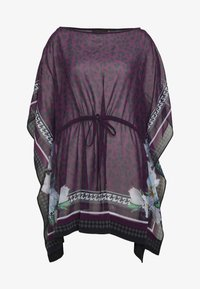 WILDERNESS TIE WAIST COVER UP - Beach accessory - deep pink