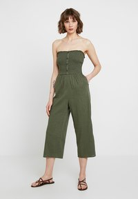 Hollister Co. - BUTTON FRONT - Overal - olive - 4