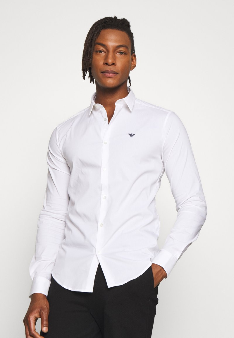 Emporio Armani - EXCLUSIVE CONTRAST LOGO - Shirt - whiite