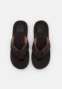 Reef - TWINPIN LUX - Sandály s odděleným palcem - brown - 3
