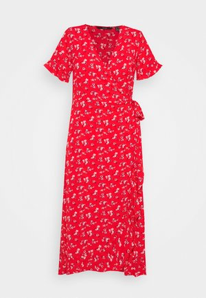 VMSAGA 2/4 WRAP FRILL ANKLE DRESS - Maxi dress - goji berry/eliana