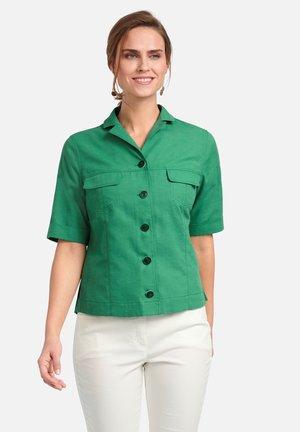 Button-down blouse - green