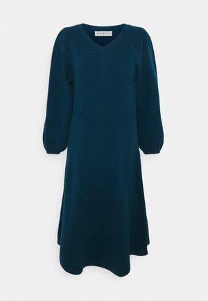 V NECK A LINE LONG DRESS - Strickkleid - rich teal