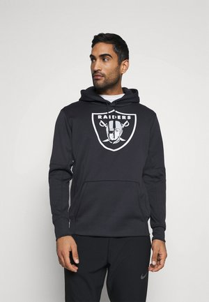 NFL OAKLAND RAIDERS PRIME LOGO THERMA HOODIE - Club wear - black