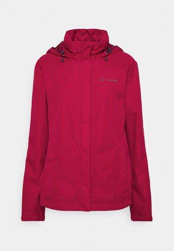 WOMENS ESCAPE BIKE LIGHT JACKET - Waterproof jacket - crimson red