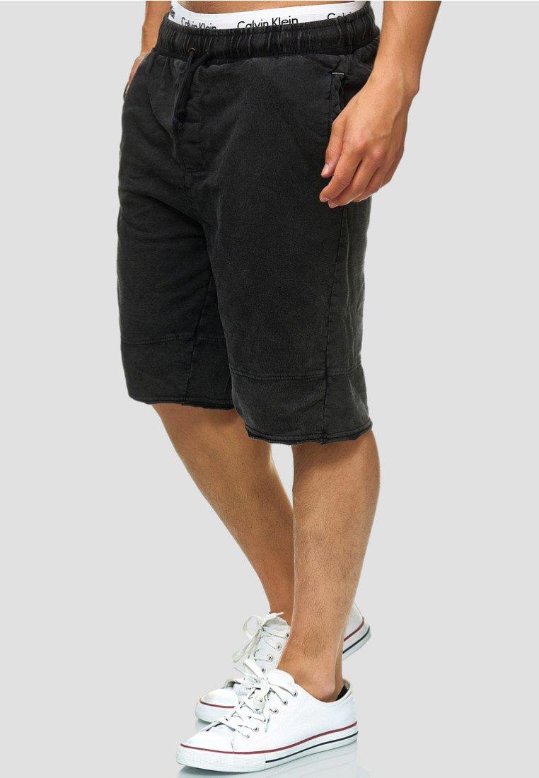 INDICODE JEANS - Denim shorts - Black