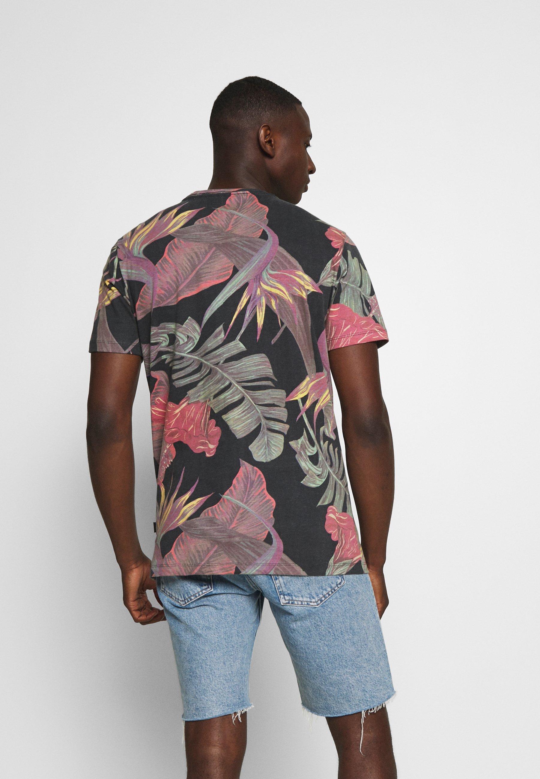 Blend Print T-shirt - dark navy blue iCw4f