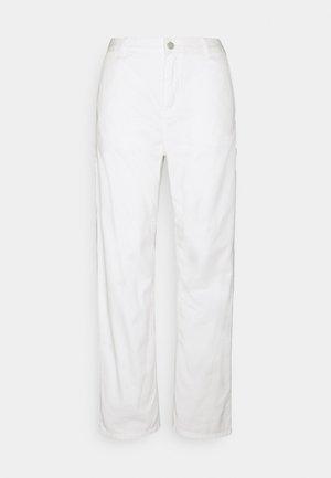 PIERCE PANT STRAIGHT - Tygbyxor - off-white