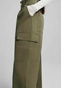 Bershka - Trousers - khaki - 4