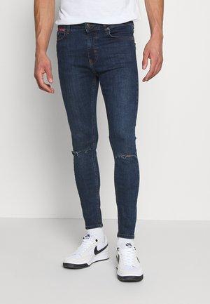 SLASHED KNEE  - Jeans Skinny Fit - indigo wash