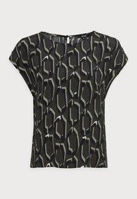 Opus - FELGA ETHNO - Print T-shirt - black oliv - 3