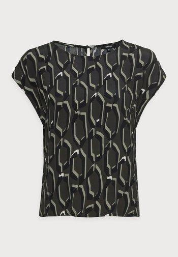 FELGA ETHNO - Print T-shirt - black oliv