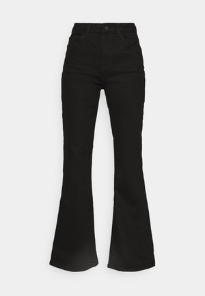 HIGH RISE - Flared Jeans - black