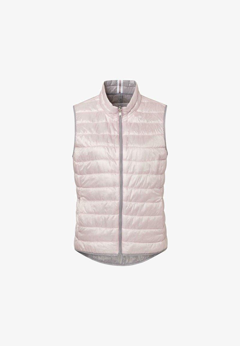JUST WHITE - Waistcoat - grey/rosa